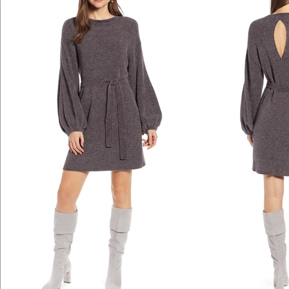 4ff69bf6e5c SOMETHING NAVY  Shimmer Sweater Dress • Size XS